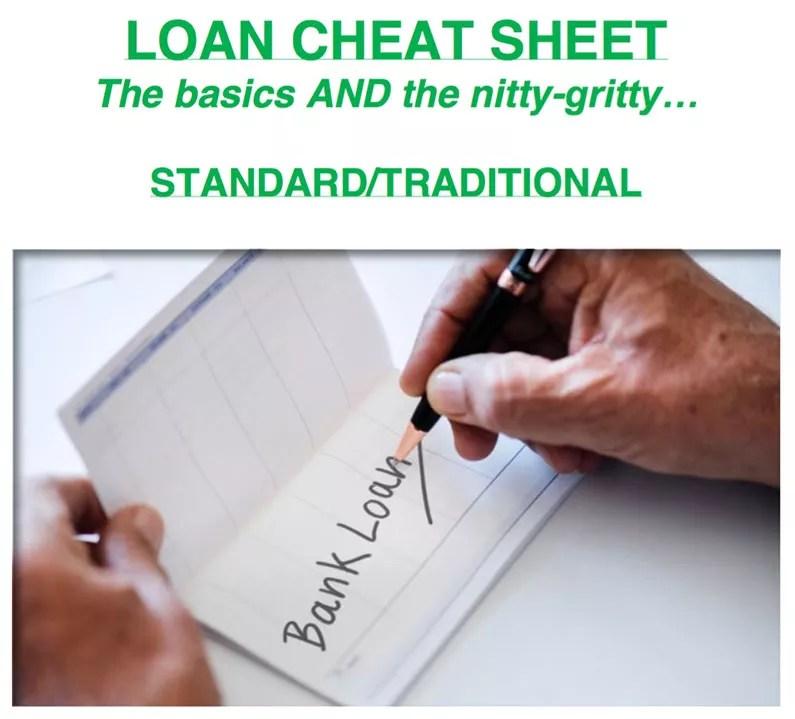 Loan Cheat Sheet
