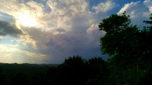 The sky from a fellow trainee's roof <3