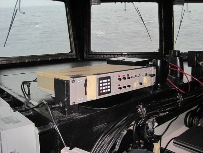 Out to sea on a USN warship
