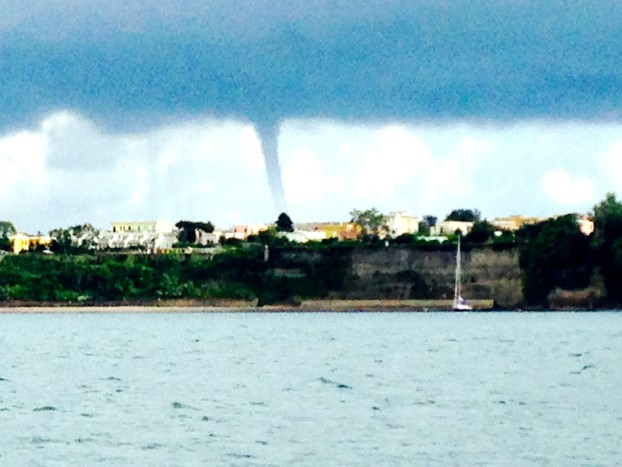Water Spout off the coast of Napoli