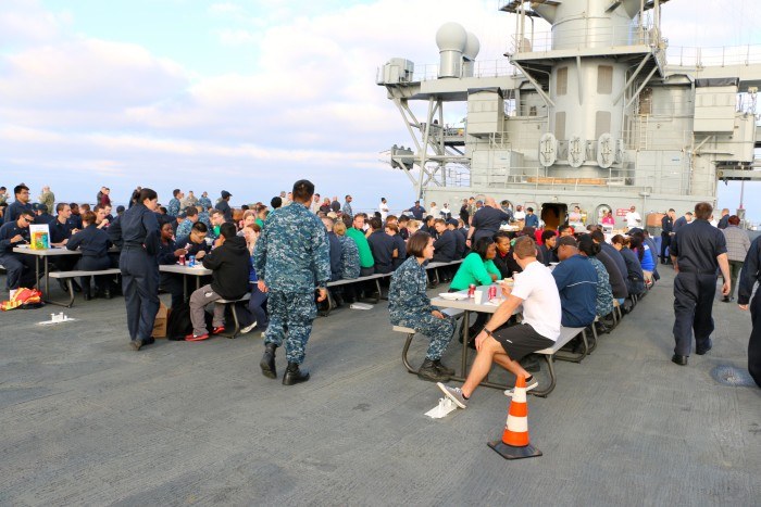 Steal Beach Picnic USS Mount Whitney
