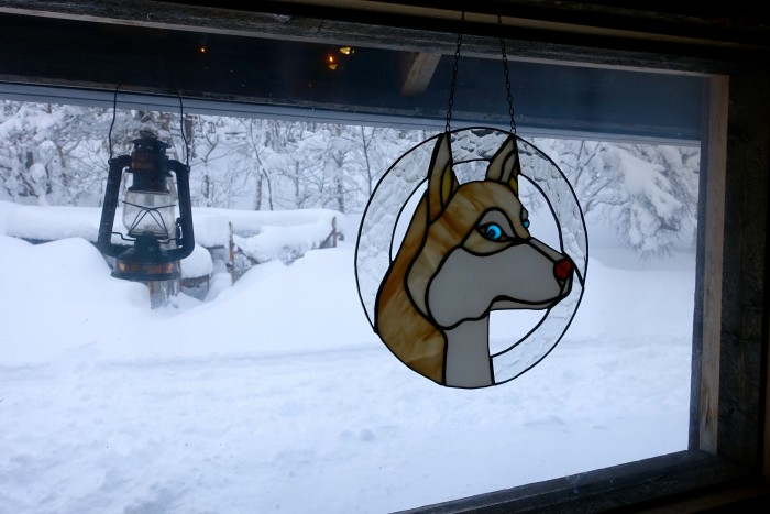 Husky Wind chime in Lapland Finland