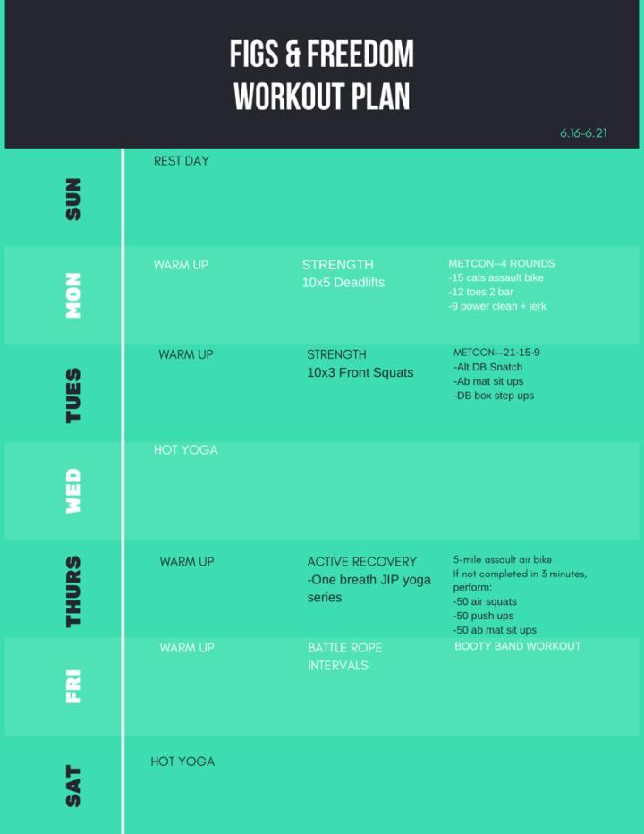 Garage CrossFit Plan 6.16-6.21