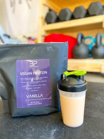vegan protein in garage gym