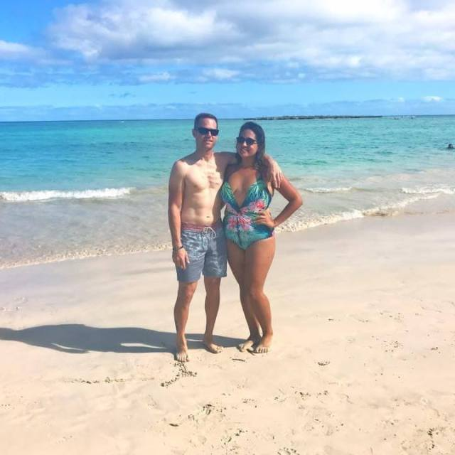 man and woman on the beach in Hawaii