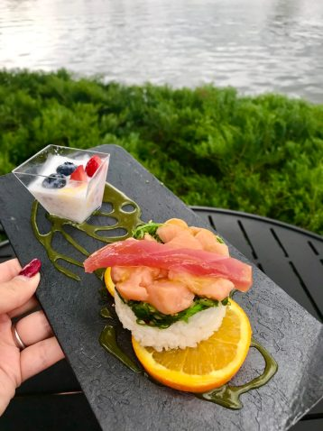 Chirashi Sushi and Haupia Pearl Epcot International Festival of the Arts Artful Epcot