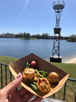 Epcot International Flower and Garden Festival Northern Bloom Seared Scallops