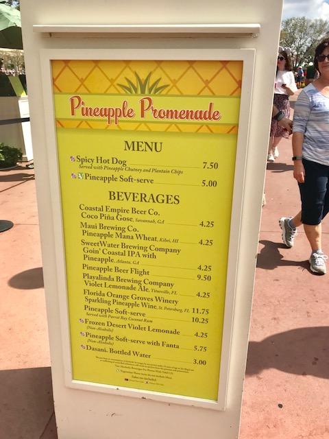 Epcot International Flower and Garden Festival Pineapple Promenade