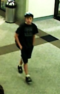 Dylan Redwine in the Durango airport the day before he went missing. Photo courtesy of the La Plata County Sheriff's Department