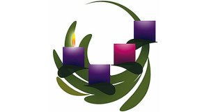 Advent wreath, week 1