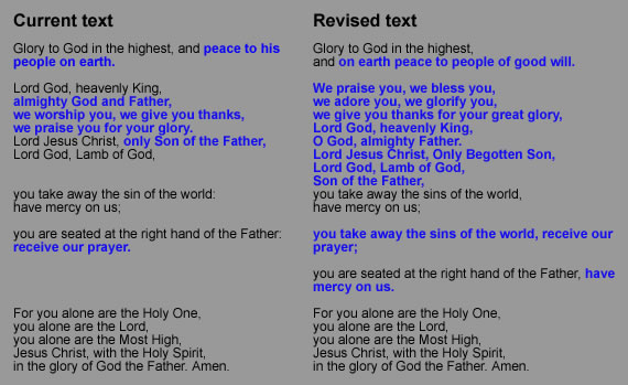 Glory to God in the highest, and — prepare for new words