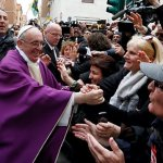 At first Angelus, Pope Francis says God never tires of forgiving