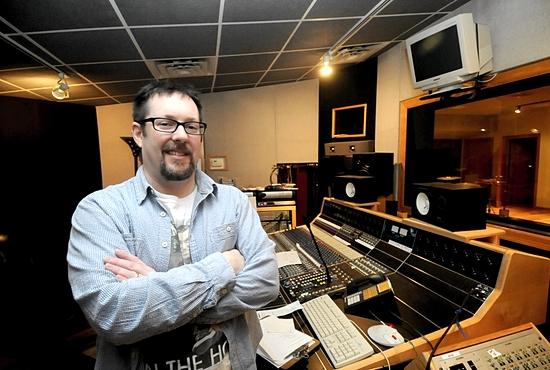 "Craig Berry, aka J. Constantine of  12 Tribes, uses Winterland Studios in Minneapolis to record. He released his debut Christian rock album, ""Sing a New Song,"" in December. Dianne Towalski/The Catholic Spirit"