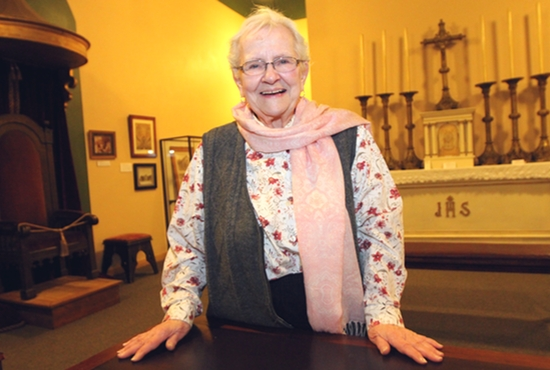 Celeste Raspanti, cathedral archivist, is the centennial's chairwoman. Dave Hrbacek/ The Catholic Spirit