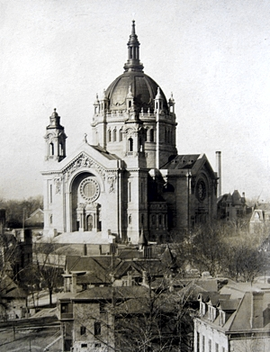 The cathedral in 1915, the year of its first Mass.