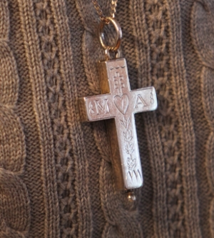 The Visitation Sisters' trademark cross and way of conveying their religious devotion to those in their north Minneapolis neighborhood;