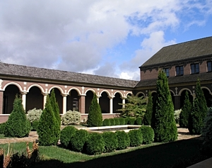 The cloister of the Carmelite Hermits of the Blessed Virgin Mary in the spring. Photo courtesy the Carmelite Hermits