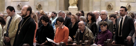 An ecumenical prayer service for the martyrs of the systematic killings of Armenians a century ago drew people to the Cathedral of St. Paul April 18. Jim Bovin/For The Catholic Spirit