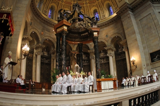 Archbishop John Nienstedt delivers his homily during the ordination Mass. Dave Hrbacek/The Catholic Spirit