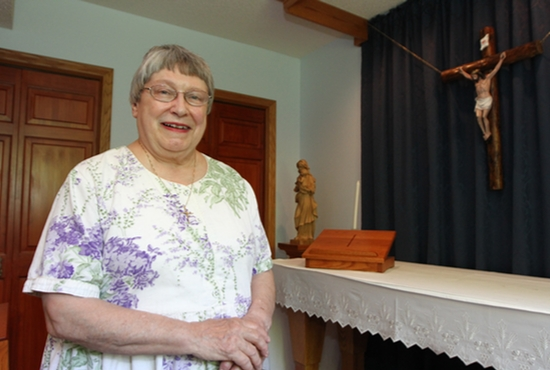 Linda Long likes the life of a consecrated virgin, which includes time spent in a prayer chapel in her Woodbury home. Dave Hrbacek/The Catholic Spirit