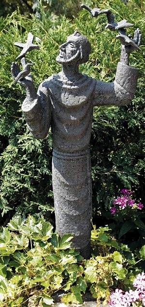 A statue of St. Francis, patron of ecology, at St. Catherine University in St. Paul. Courtesy St. Catherine.