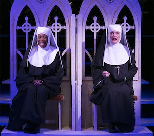 Regina Maria Williams plays the pseudo Sister Clarence, left, along side Norah Long's Mother Superior.