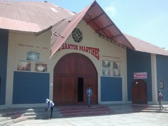 Santo Matires in Chimbote, Peru, is a sister parish of St. Rita in Cottage Grove. It is named for three missionary priest martyrs whom a guerrilla group killed in 1991. A delegation of six from St. Rita traveled to Chimbote for the martyrs' Dec. 5 beatification. Courtesy Amy Schroeder