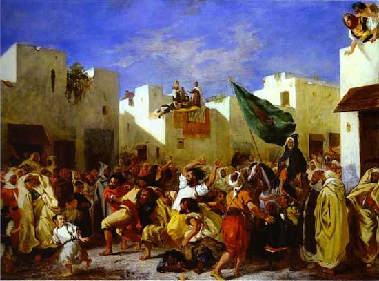 The Fanatics of Tangier, by Ferdinand Delacroix, 1837-38