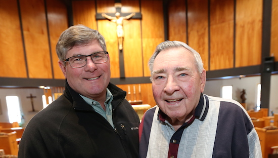 dough Kuplic, left, and his father, Don, have attended retreats together for the past three years at the Franciscan Retreats and Spirituality Center in Prior Lake. Dave Hrbacek/The Catholic Spirit
