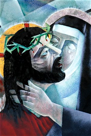 Jesus meets his mother in this depiction of the fourth station of the Way of the Cross by American artist Virgil Cantini. CNS file photo/Bob Roller