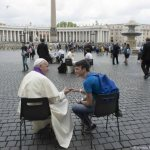 When it comes to happiness, there's no app for that, pope tells teens