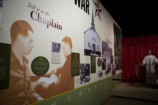 Exhibits at the U.S. Army Chaplain Corps Museum at Fort Jackson in Columbia, S.C., are shown in this March 15 photo. CNS photo/Chaz Muth