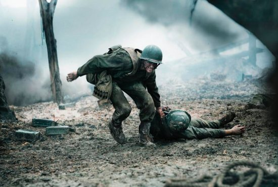 "Andrew Garfield stars in a scene from the movie ""Hacksaw Ridge."" The Catholic News Service classification is L -- limited adult audience, films whose problematic content many adults would find troubling. The Motion Picture Association of America rating is R -- restricted. Under 17 requires accompanying parent or adult guardian. CNS photo/Cross Creek Pictures"