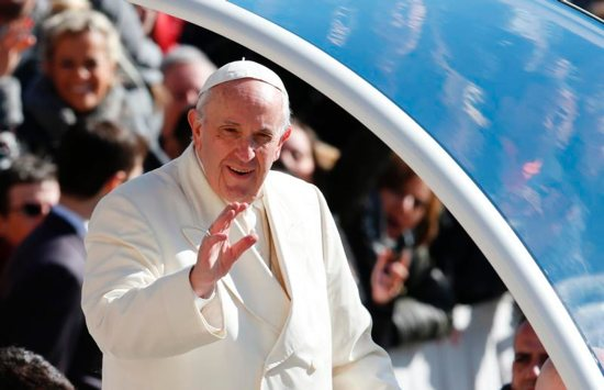 Pope Francis welcomed the beginning of spring with an impromptu lesson about gardening