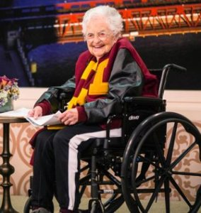 Loyola University Chicago men's basketball chaplain Sister Jean Dolores Schmidt