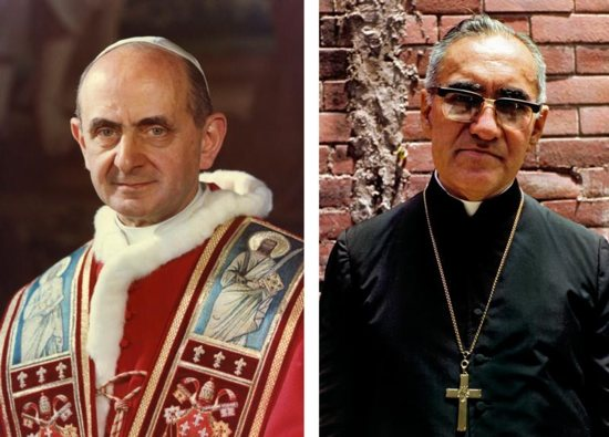 Oscar Romero and Pope Paul VI