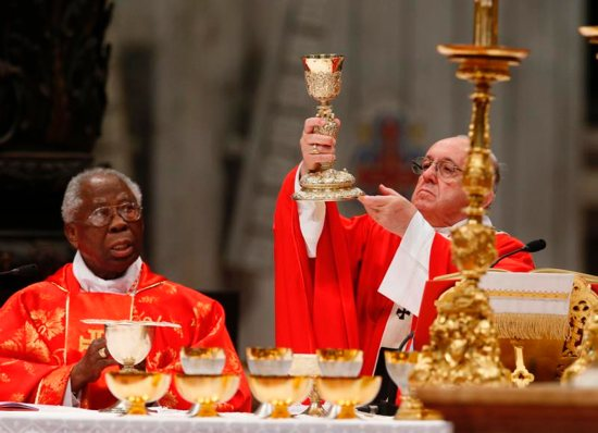 Nigerian Cardinal Francis Arinze and Pope Francis