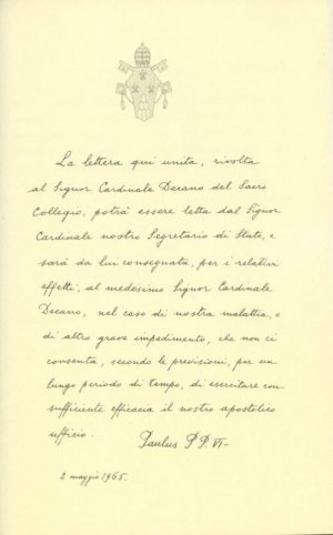 Blessed Paul VI resignation letter