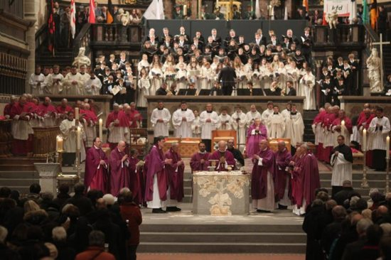 German bishops celebrate Mass in Cathedral of Trier, Germany