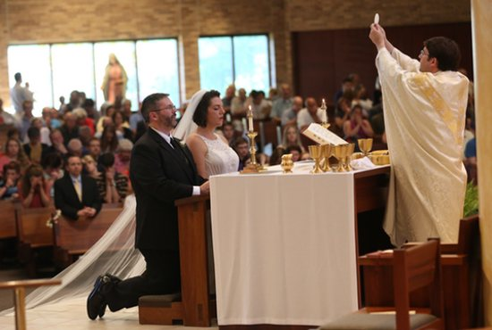 Berkebile Wedding at Vigil Mass