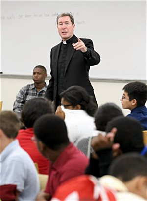 """In a Sept. 20 letter, Jesuit Father James Van Dyke, president of of Georgetown Preparatory School in Bethesda, Md., noted that it is a """"challenging time"""" for the school, in the wake of allegations of sexual misconduct raised against Judge Brett Kavanaugh, a 1983 graduate of the school."""