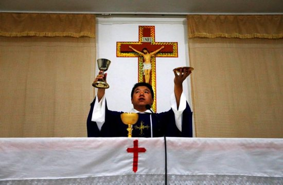 For the first time in decades, all of the Catholic bishops in China are in full communion with the pope, the Vatican announced Sept. 22