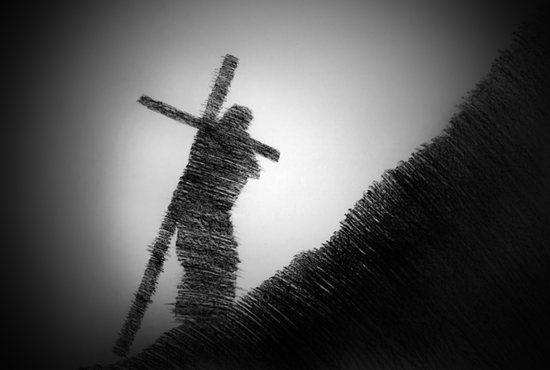Jesus bearing the cross