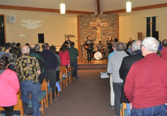 Worshippers gather Jan. 20, 2019, at St. Peter Church in Cameron, Wis., to give thanks for Jayme Closs' escape from abduction. The ecumenical service brought a sense of closure and relief to the community, whose members have wept and prayed together since the October murder of Jim and Denise Closs and the abduction of Jayme, their 13-year-old daughter.