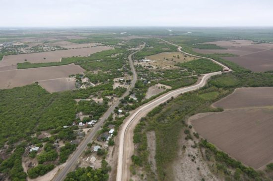 A levee, which acts as a border wall, is pictured in the Rio Grande Valley sector, near McAllen, Texas, April 4, 2018. A U.S. District Court judge in Texas ruled Feb. 6 that the Diocese of Brownsville must let the Trump administration survey land around a historic Catholic chapel in anticipation of building the proposed border wall. Judge Randy Crane said the diocese and the government must negotiate access to the property, which sits 800 feet from the southern border