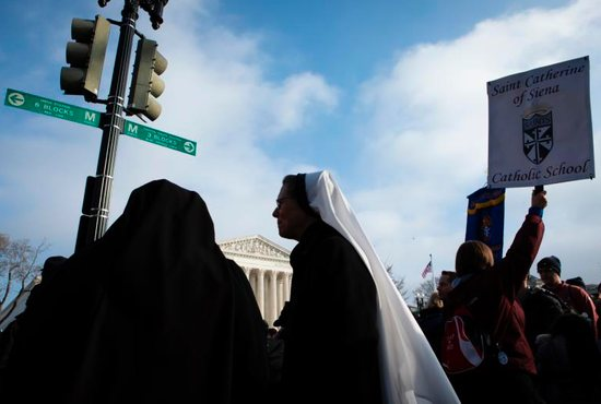 A woman religious is seen near the U.S. Supreme Court during the annual March for Life in Washington Jan. 18, 2019. The U.S. Supreme Court received an emergency request in late January to put on hold a Louisiana restriction on abortion providers.