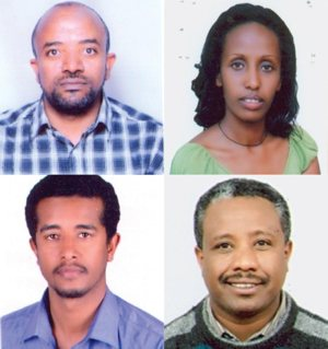 Four Catholic Relief Services staff members on their way to a training session in Nairobi, Kenya, were among the passengers aboard an Ethiopian Airlines flight that crashed moments after takeoff in the east African nation. Pictured in this composite photo are Sintayehu Aymeku, Sara Chalachew, Mulusew Alemu and Getnet Alemayehu.