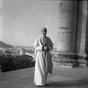 Pope Pius XII, who led the Catholic Church from 1939 to 1958, is pictured in this undated photo. Pope Francis announced March 4 that all the documents on Pope Pius in the Vatican Secret Archives will be made available to researchers starting March 2, 2020.