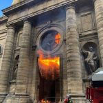 Vandals, arsonists target French Catholic churches