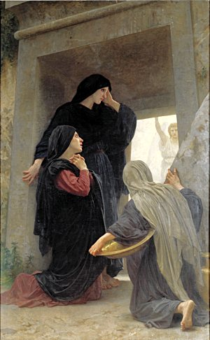 """The Holy Women at the Tomb"" (1890) by William-Adolphe."